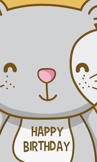 Alles Gute zum Geburtstag, um Sie Katze Cartoon | Download der ...