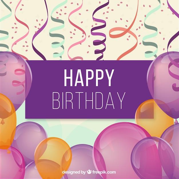 Alles Gute Zum Geburtstag Vektor Hintergrund Download Der