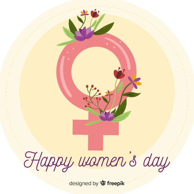 Alles Gute zum Tag der Frauen Kostenlose Vektoren