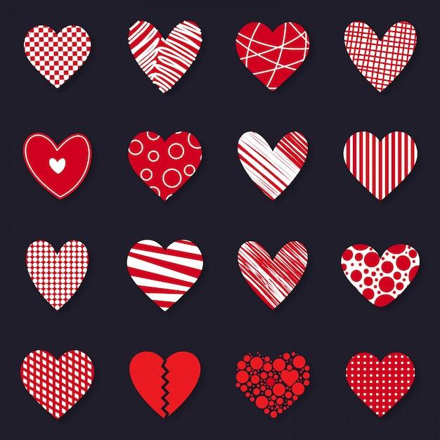 Alles gute zum valentinstag-icon-set Premium Vektoren