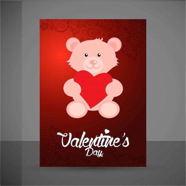Alles gute zum valentinstag teddy bear Kostenlosen Vektoren