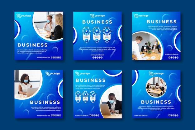 Allgemeine business-instagram-beiträge Kostenlosen Vektoren