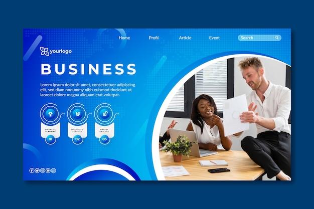 Allgemeine business landing page vorlage Kostenlosen Vektoren