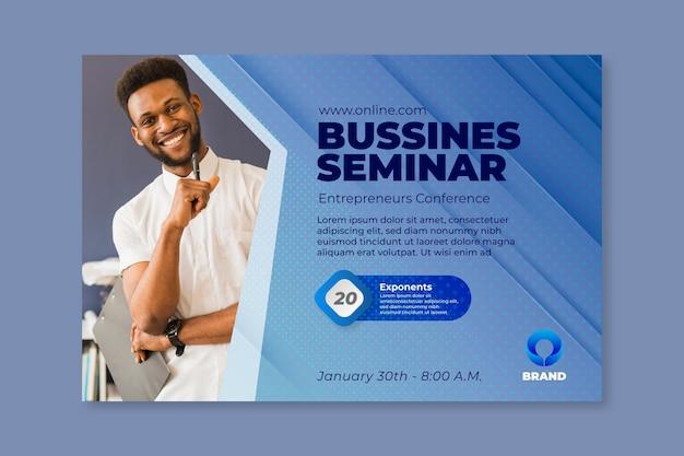 Allgemeine business seminar banner vorlage Kostenlosen Vektoren