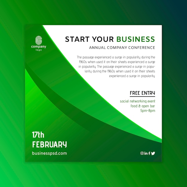 Allgemeine business square flyer vorlage Premium Vektoren