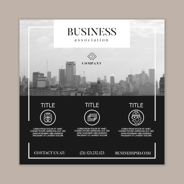 Allgemeine business square flyer vorlage Kostenlosen Vektoren