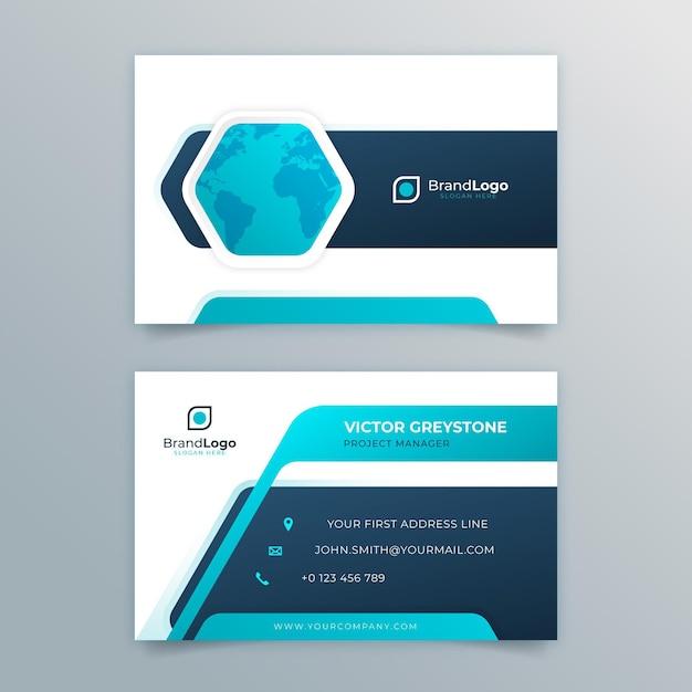Allgemeine doppelseitige visitenkarte Premium Vektoren