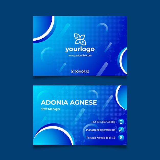 Allgemeine doppelseitige visitenkartenvorlage des geschäfts Kostenlosen Vektoren