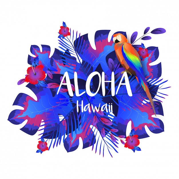 Aloha hawaii party vorlage Premium Vektoren