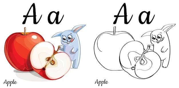 alphabet buchstabe a für kindererziehung mit lustigem