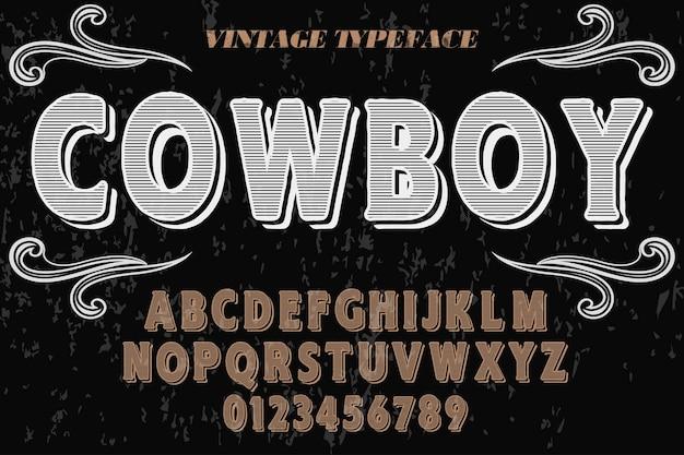 Alphabet cowboy Premium Vektoren