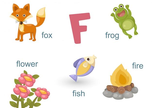 Alphabet f Premium Vektoren
