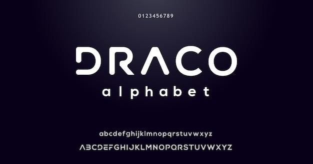 Alphabet-font-effekt modern Premium Vektoren