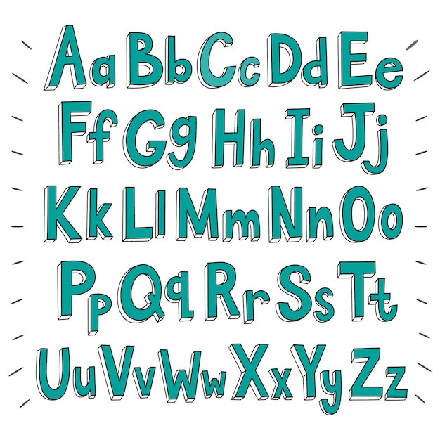 Alphabet hintergrund design Kostenlosen Vektoren