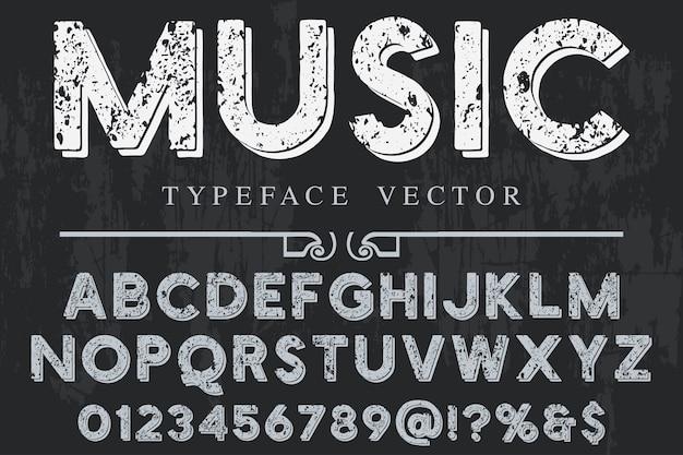 Alphabet label design musik Premium Vektoren