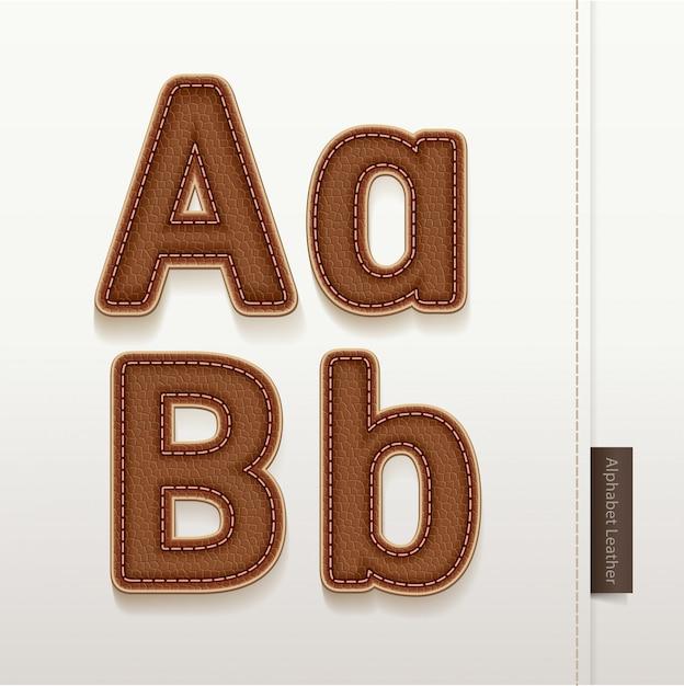 Alphabet leder hautstruktur. Premium Vektoren