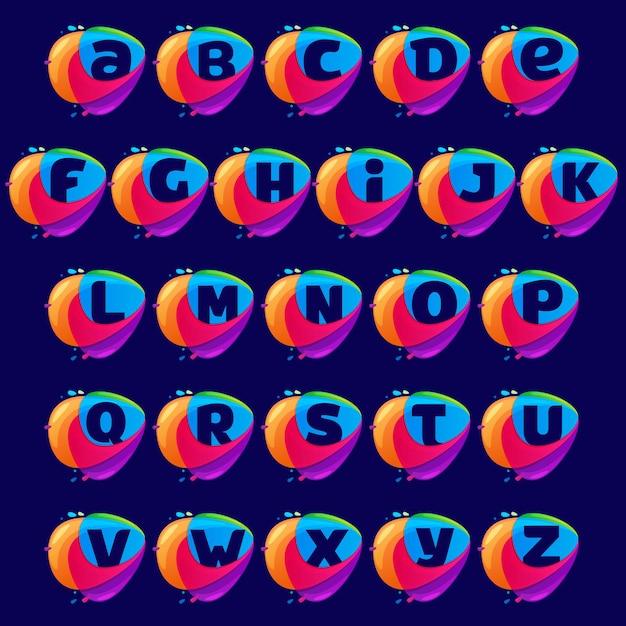 Alphabet-logo im dreieckskreuzungssymbol. Premium Vektoren