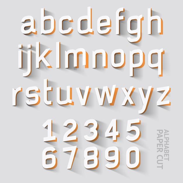 Alphabet papierschnitt designs. Premium Vektoren