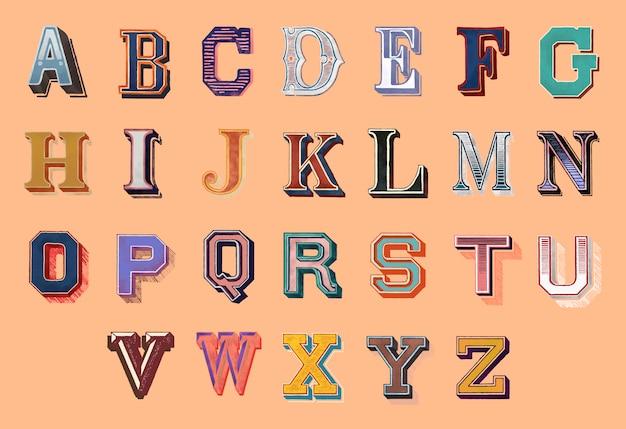 Alphabet-schriftzug Kostenlosen Vektoren