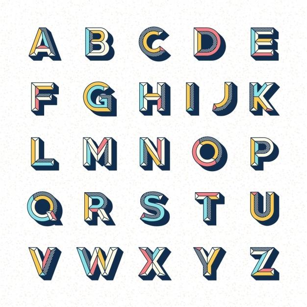 Alphabet template-design Kostenlosen Vektoren