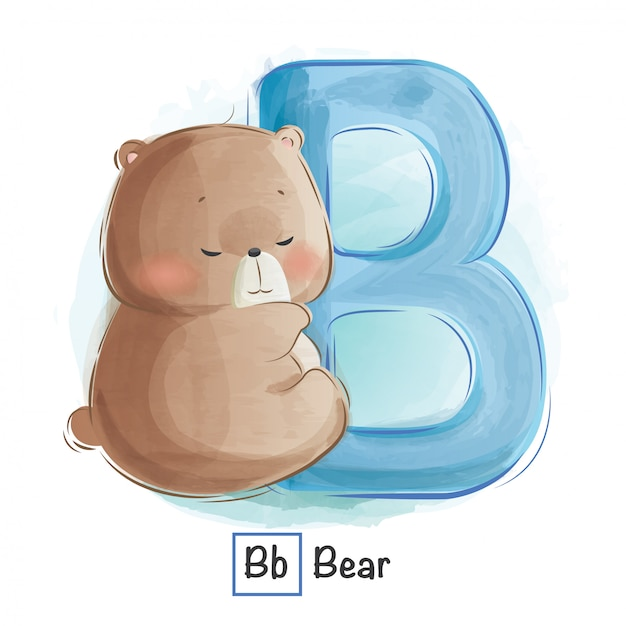 Alphabet tier - b Premium Vektoren