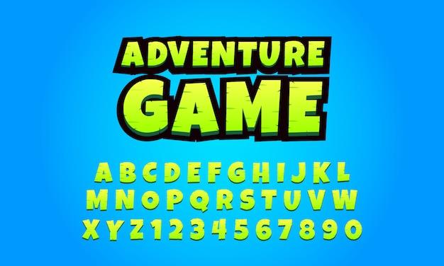 Alphabete 3d stellten für bewegliches spiel, spielguß ein Premium Vektoren