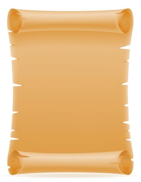 Alte papierrolle-vektorillustration Premium Vektoren