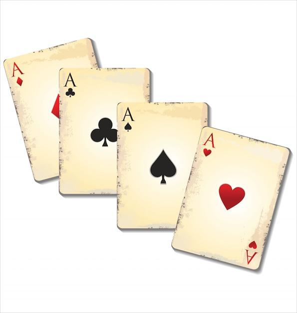 Alte spielkarten Premium Vektoren