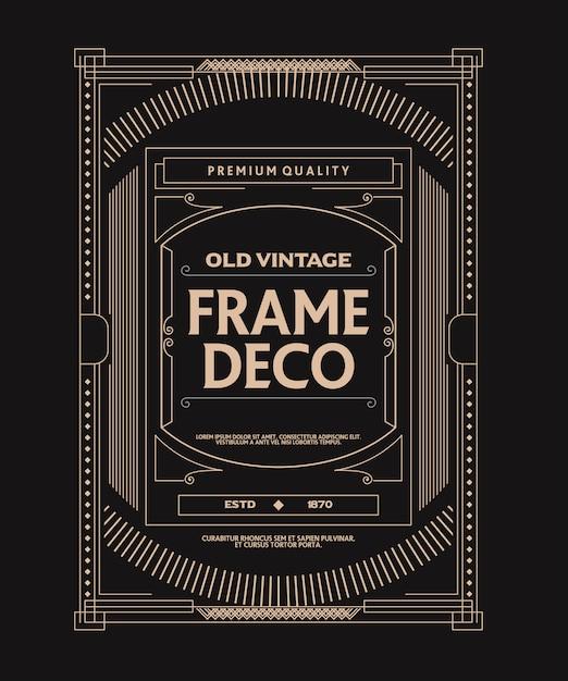 Alte vintage-frame-deko-stil Premium Vektoren