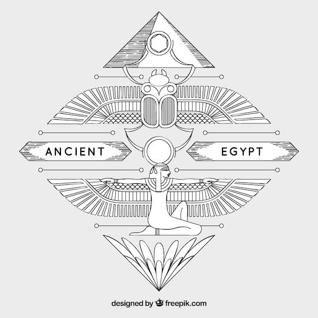 Alter ägypten-hintergrund Premium Vektoren