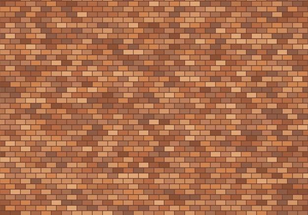 Alter backsteinmauerhintergrund. nahtloser mustervektor der beschaffenheit der roten backsteine. Premium Vektoren