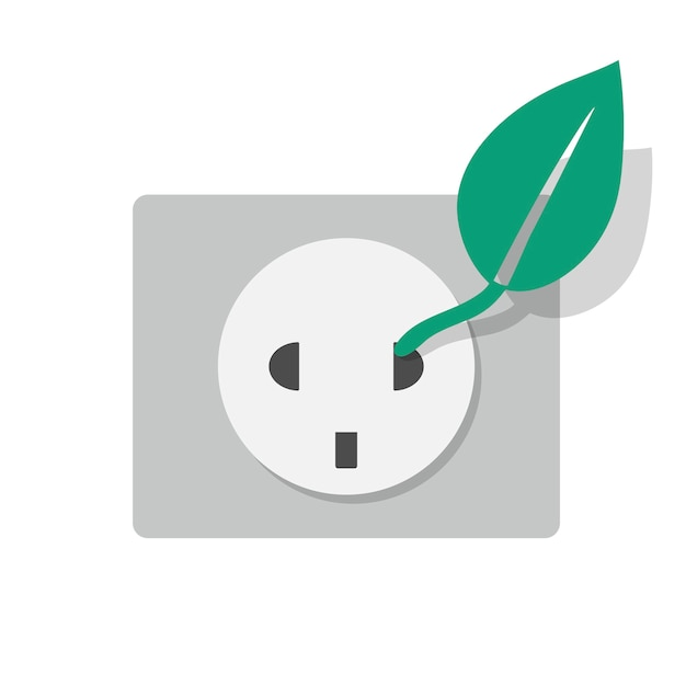 Alternative energie electrcity sockelikone Kostenlosen Vektoren