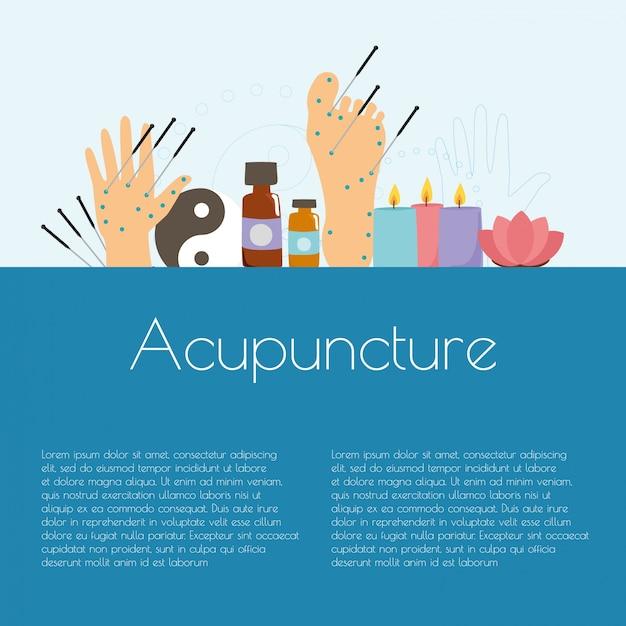 Alternative medizin, akupunktur Kostenlosen Vektoren
