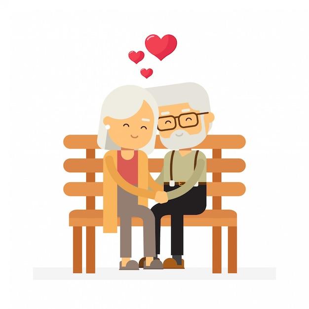 Altes Ehepaar Liebe