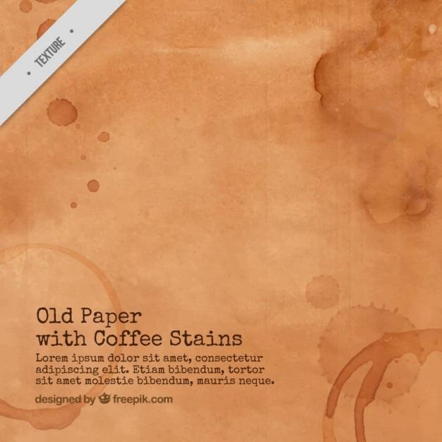 Altes papier mit kaffeeflecken Kostenlosen Vektoren