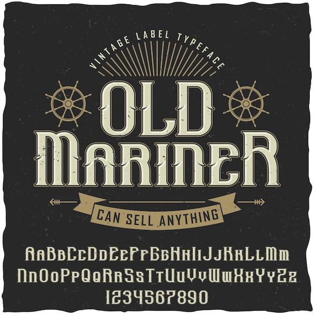 Altes seefahrer-weinleseplakat mit der inschrift kann alles illustration verkaufen Kostenlosen Vektoren