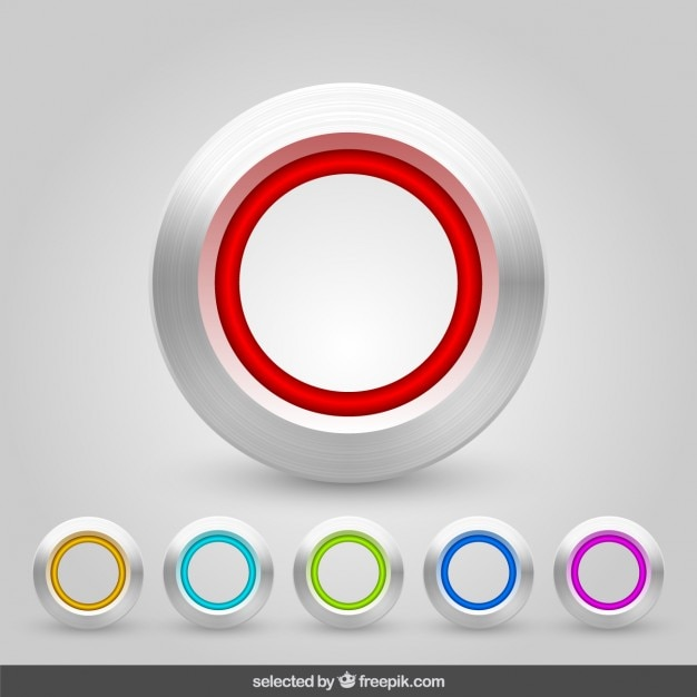 Aluminum buttons collection Kostenlosen Vektoren