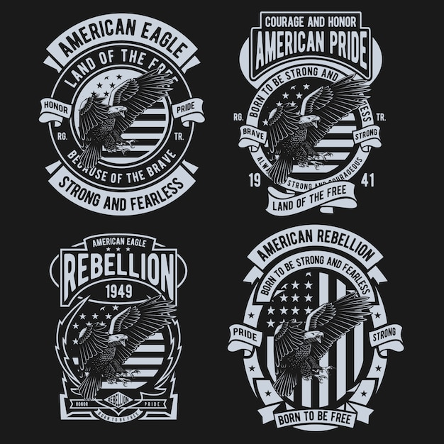 American eagle design Premium Vektoren