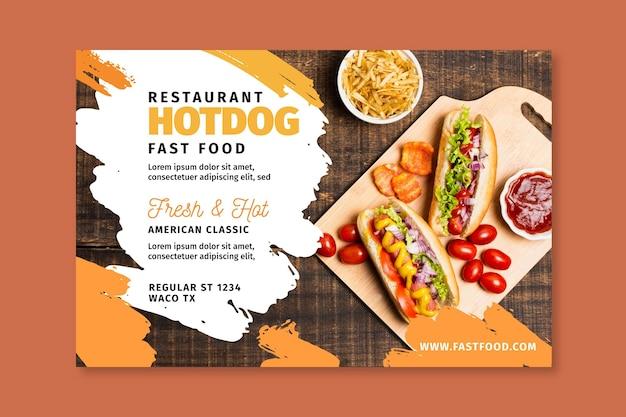 American food banner vorlage Kostenlosen Vektoren