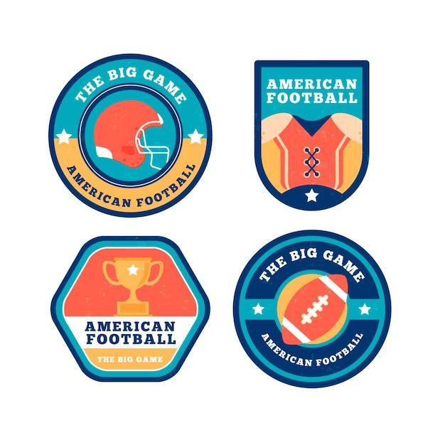 American-football-abzeichen im retro-design Kostenlosen Vektoren