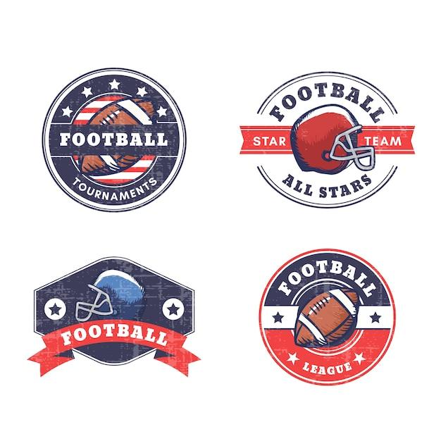 American-football-abzeichen mit retro-stil Kostenlosen Vektoren