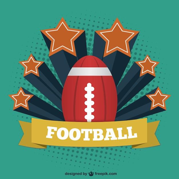 American football vintage-vorlage Kostenlosen Vektoren
