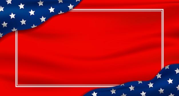 Amerika Oder Usa Urlaub Hintergrund Premium Vektor