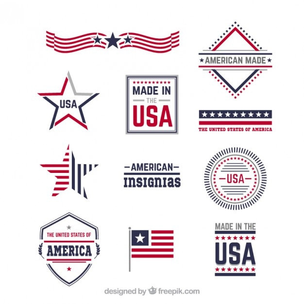 Amerikanischen insignien Kostenlosen Vektoren