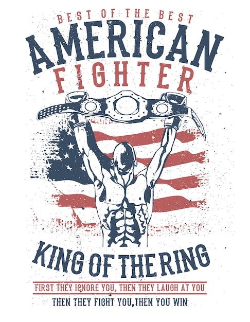 Amerikanischer kämpfer Premium Vektoren
