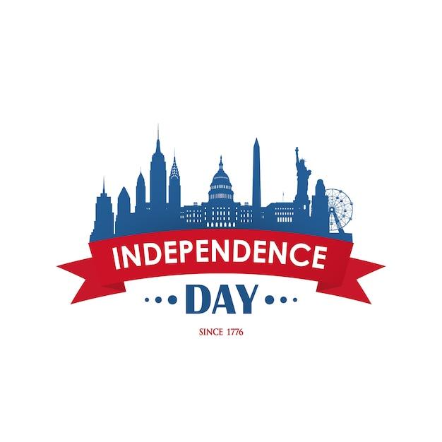 Amerikanischer nationalfeiertag independence day. Premium Vektoren