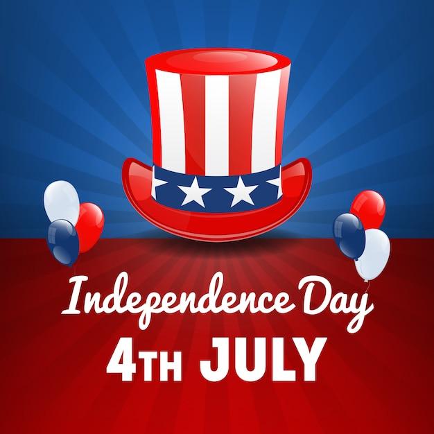 Amerikanischer unabhängigkeitstag. 4. juli usa feiertag. tag der unabhängigkeit Premium Vektoren