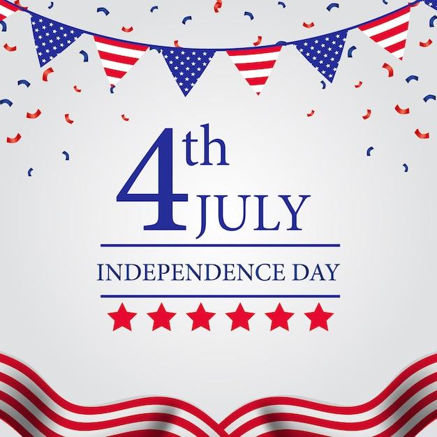 Amerikanischer unabhängigkeitstag Premium Vektoren