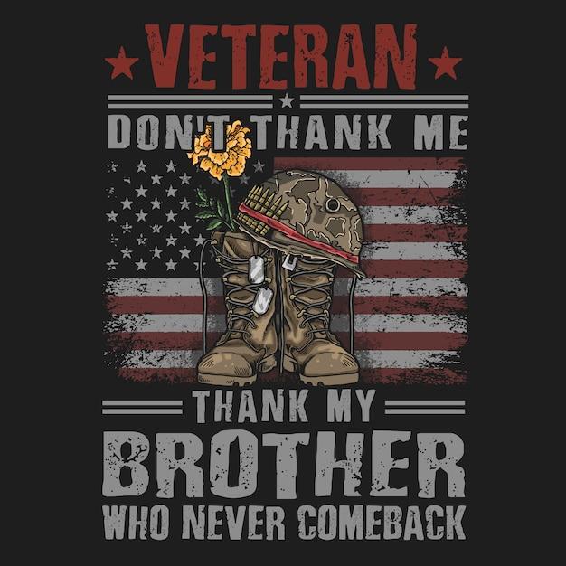 Amerikanischer veteran lädt armeeillustrationsvektor auf Premium Vektoren