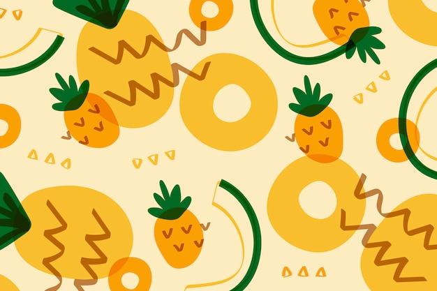Ananasfrucht memphis-art Kostenlosen Vektoren